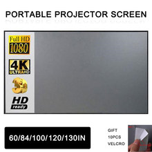 84/100/120/130 Inch Home Outdoor Office Portable 3D 4K HD Projector Screen For Xiaomi DLP YG300 T6 XGIMI H2 HALO Mogo Projector