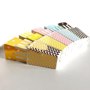 Image 5 - Boîte à Popcorn en papier 6 pièces, boîte à Popcorn en papier or argent et or Rose, vaisselle, vaisselle, soirée cinéma, mariage, anniversaire