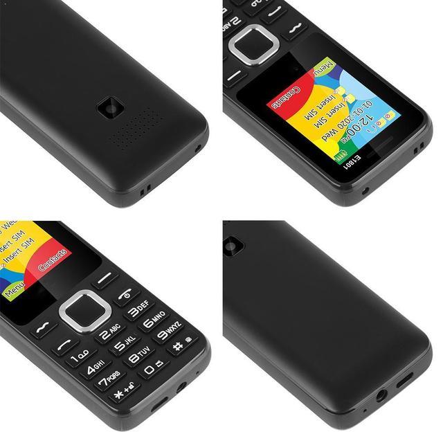 E1801 2G GSM 1.77 Inch Feature Phone 800mAh Cellphone FM Dual SIM Radio Man Wireless Standby Dual For Elder Telephone M0X2