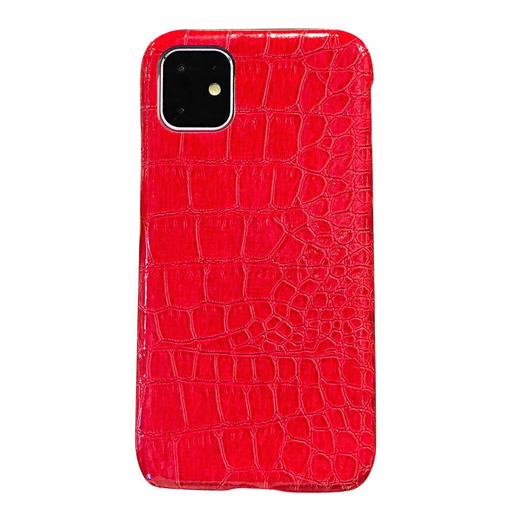 תנין דפוס עור לגברים בנות Slim להגן על כיסוי עבור iPhone 11 6.1 אינץ טלפון מקרה מגן coverPackage כולל # e25