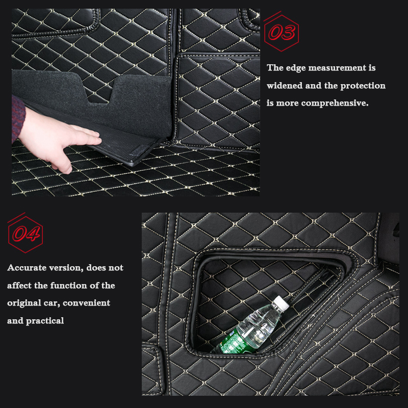 lsrtw2017 for ford kuga escape leather car trunk mat cargo liner 2012 2013 2014 2015 2016 2017 2018 2019 rug carpet accessories