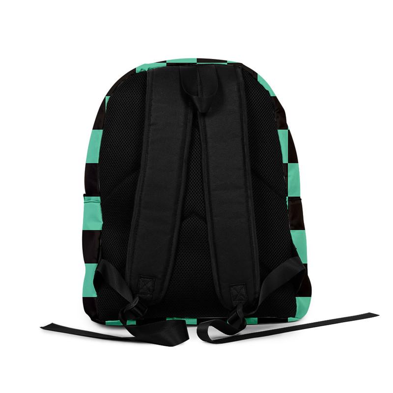 H2bf622a4b62e40f7adbaf28e72495712D - Demon Slayer: Kimetsu no Yaiba Backpack Canvas Bag Kamado Tanjirou School Bags Girl Mochila Feminina Nezuko Notebook Bag Cosplay