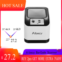 Aibecy 2200 1D/2D/QR CMOS Image Desktop Barcode Bar Code Scanner Reader USB Omnidirectional Screen Barcode Scanner