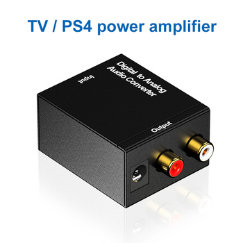 Digital to Analog Audio Converter Adapter Optical Coaxial Toslink Audio Signal To 2RCA L/R DAC Spdif Stereo free shipping optical coaxial rca l r digital to analog audio converter