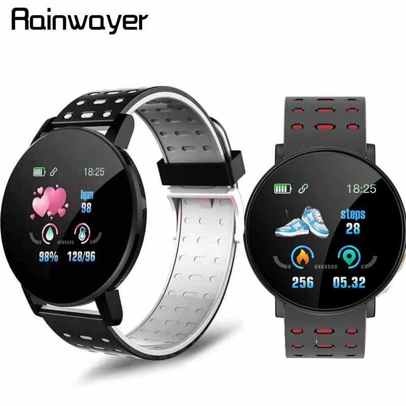 119 Plus Smart Armband Hartslag Smart Horloge Man Polsband Sport Horloges Band Waterdichte Smartwatch Android Met Wekker