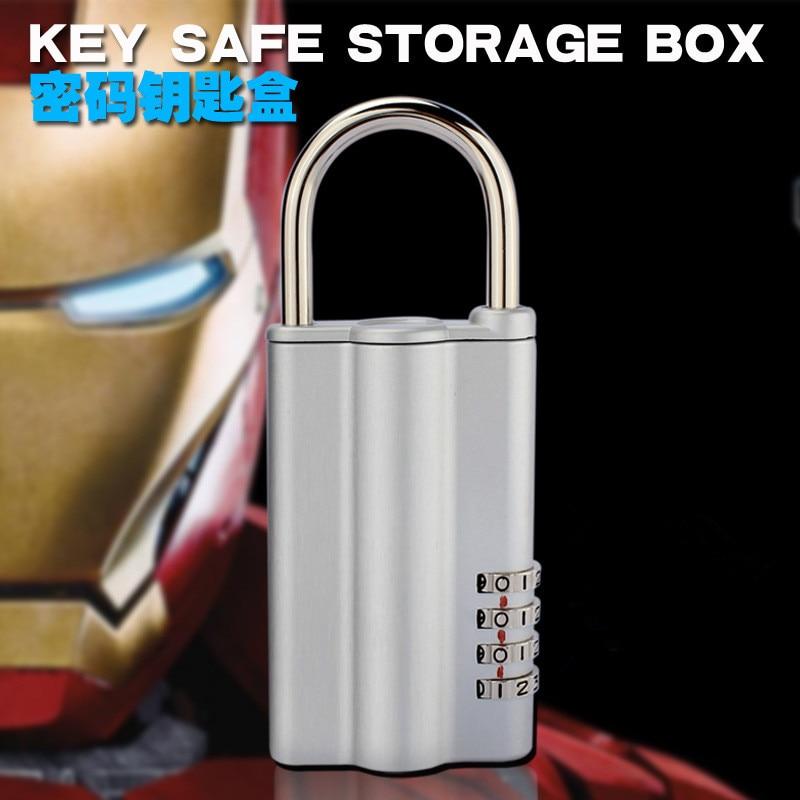 Key Safe Storage Organizer Box With Code Combination Lock Security Secret Stash 4-Digital Safety Locker Safes For Home Cabinet