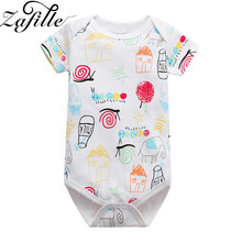 ZAFILLE Summer Cotton Baby Girl Clothes Short Sleeve Newborn Infant Baby Romper Printed Baby Boy Girl  Jumpsuit Kids Clothes zafille long sleeve baby romper printed baby boy clothes cotton newborn infant baby girl clothing kids clothes baby jumpsuits