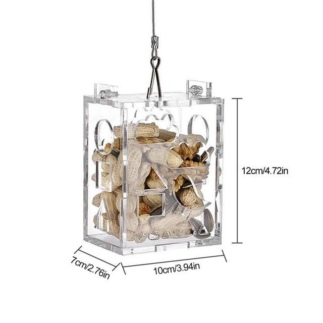 Parrot Foraging Toy Feeder Innovative Educational Acrylic Wire Rope Bird Chewing Toy For Intelligence Improving 1