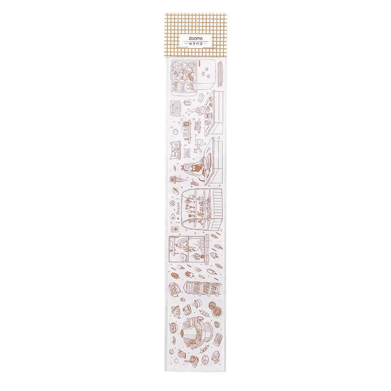 1pcs Sveglio Del Modello del Nastro di Washi Vintage Biglietto FAI DA TE Decorativo Scrapbooking Adesivo di Mascheramento Nastro Adesivo Washi Nastro Set Etichetta Adesiva