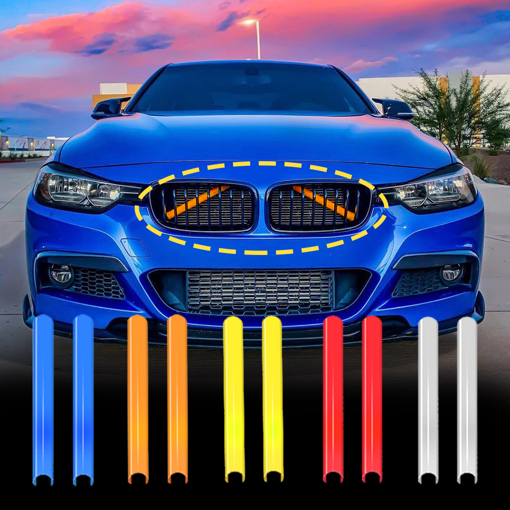 Front Grille Trim Strips Cover for BMW F30 F32 F10 F11 F01 F02 F20 3 5 7 Series Car Sport Styling Decoration Accessories Sticker|Interior Mouldings| - AliExpress