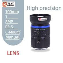 Sua lente c montagem 100mm 8.0megapixel 1 polegada sensor lente inteligente câmera de vigilância tráfego hd cctv lente f3.5 lente íris manual