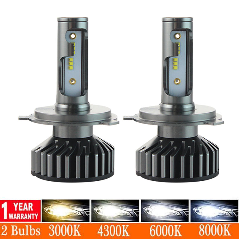 2pcs <font><b>3000K</b></font> 6000K H1 H11 H8 H9 H7 Double Color LED Headlight <font><b>Bulbs</b></font> H7 LED Canbus HB3 <font><b>HB4</b></font> LED <font><b>Bulbs</b></font> for Car 12V 24V Fog Lamps image