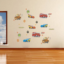 3D Effect Disney Cars 3 Lightning Mcqueen Wall Stickers For Kids Room Home Decor Cartoon Wall Decals Pvc Mural Art Diy Posters(China)