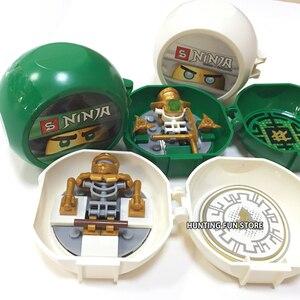 Image 5 - Ninja Seires Kendo Training Pods 8 w 1 zestaw Ninja Mini figurki Pack stojak DIY klocki dla dzieci prezent