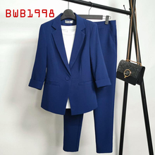 Black Blue Suit Women's Jacket Elegant Fashion Lady Tooling