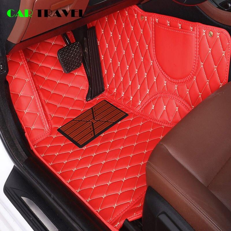 Esteira do assoalho do carro de couro Personalizado Para Citroen c2 c3 c4 c5 c6 de drenagem C-Quatre/Triomphe Picasso Elysee acessórios do carro estilo do carro