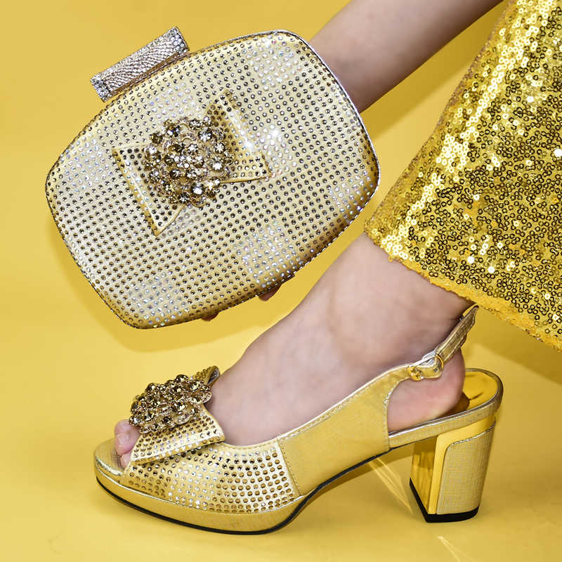 Eşleşen çanta ile İtalyan ayakkabı kadınlar yaz yüksek topuklu ayakkabılar kadınlar için afrika eşleşen ayakkabı ve çanta İtalyan kadın