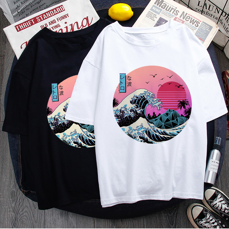 Vaporwave Aesthetic Cool T Shirt Men Fashion Streetwear Harajuku T-shirt Graphic Summer Casual Tshirt Hip Hop Top Tees Male
