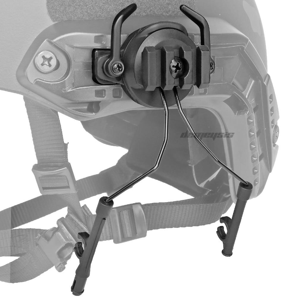 Тактические крепления с быстрым Рельсом переходник для гарнитуры комплект держателей для гарнитуры вращающийся на 360 градусов кронштейн для шлема-2