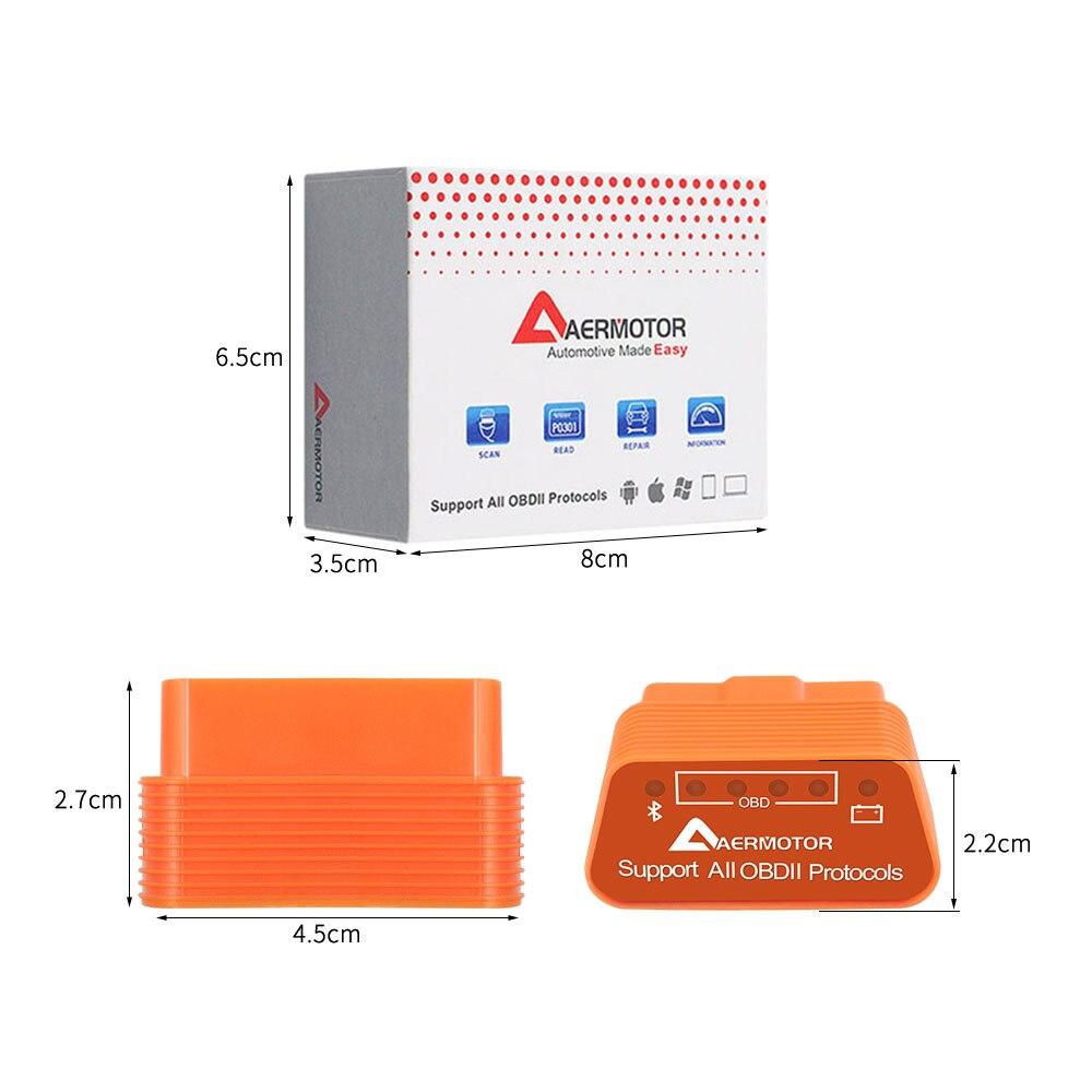 Оригинальный Aermotor Wifi ELM327 V1.5 Bluetooth 4,0 ELM 327 1,5 OBD2 диагностический сканер Android IOS Windows работает ELM327 адаптер