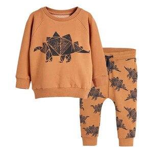 Image 1 - Salto metri Vestiti Per Bambino Set Autunno Inverno Ragazzo Set Vestiti di Sport Per I Ragazzi della Camicia del Maglione Pantaloni 2 Pezzi Set di Bambini