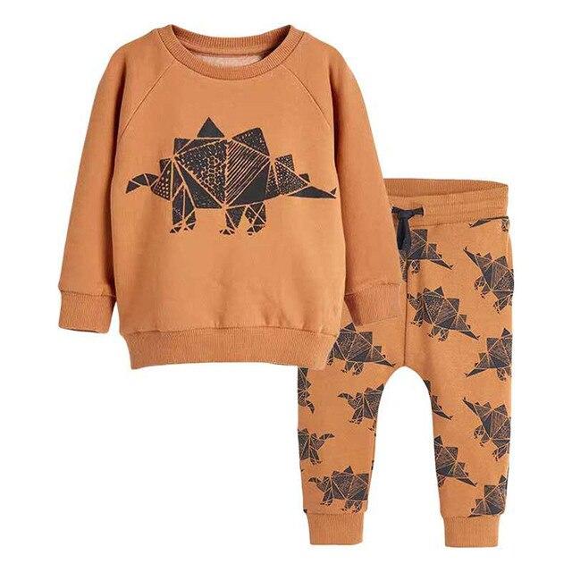 Salto metri Vestiti Per Bambino Set Autunno Inverno Ragazzo Set Vestiti di Sport Per I Ragazzi della Camicia del Maglione Pantaloni 2 Pezzi Set di Bambini