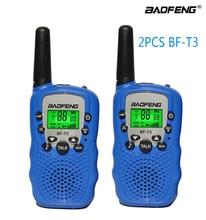 2 pçs/set rádio das crianças walkie talkie mini brinquedos baofeng BF-T3 para crianças presente de aniversário do miúdo bft3 presentes de natal bf t3