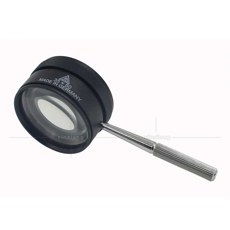 Handle Magnifying Loupe Portable Jewelry Lupe Loupe Monocle Magnifier Glass Jeweler Glass Handheld 73mm Metal 35X Hand Magnifer