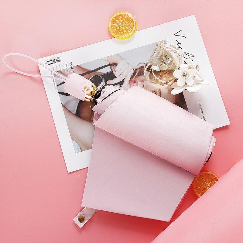 Japanese-style Hipster Self-opening Umbrella Simple Solid Color Creative Vinyl Sun-resistant Parasol Printed Logo Umbrella Adver