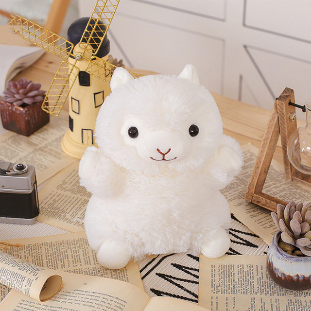 20CM Cute Animal Plush Hand Puppets Childhood Soft rainbow Alpaca plush Shape Story Pretend Playing Dolls Gift For Children