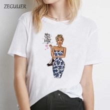 Fashion Girl T Shirt Women T-Shirt Harajuku Streetwear Tshirt Casual Short Sleeve Summer Tops Tee Japan Style(China)