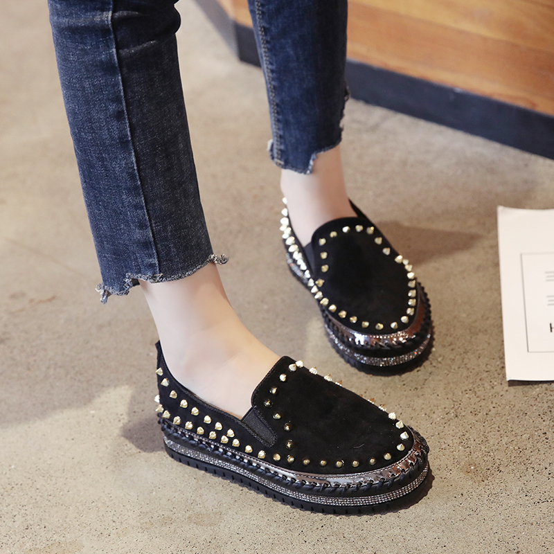2019 Winter New Women Fur Loafers Comfortable Casual Platform Sneakers 56