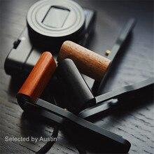 خشبية اليد قبضة قوس قاعدة L لوحة لسوني RX100 السابع RX100 M7 M6 RX DSC RX100