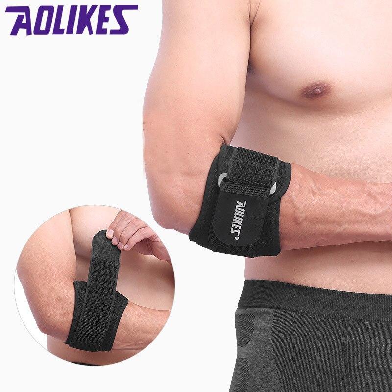 Aolikes adjustbale tennis elbow brace suporte pads golfista cinta cotovelo dor lateral síndrome epicondylite cinta