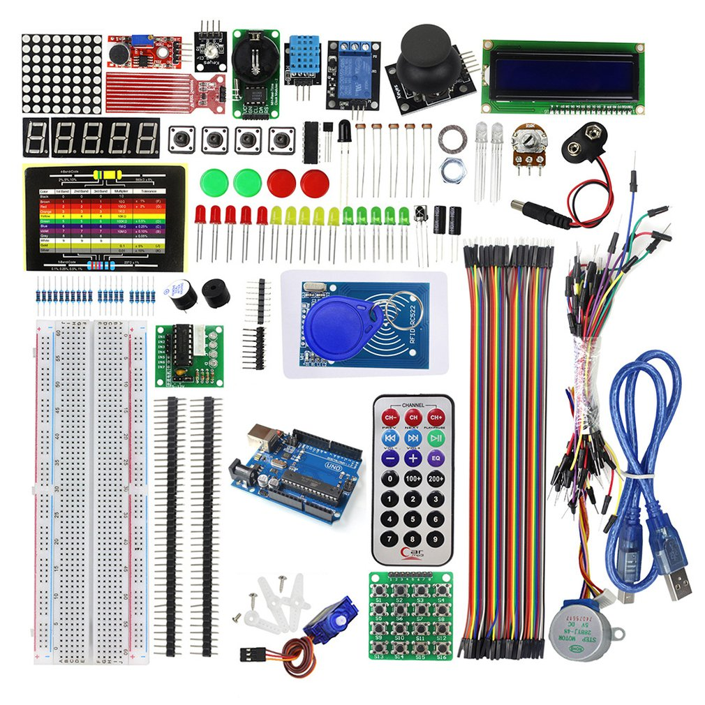 Upgraded Advanced Version Starter Kit The Rfid Learn Suite Kit Lcd 1602 For Arduino Uno R3 Stepper Motor Learning Kit