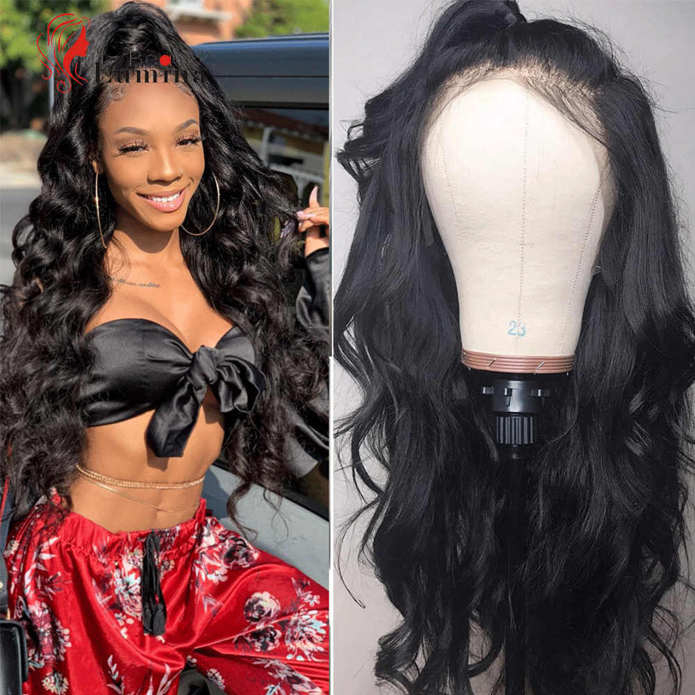 Full Lace Wig With Baby Hair 180% Density Pre Plucked Brazilian Body Wave Full Lace Wig Remy Hair Beauty Lumina Human Hair