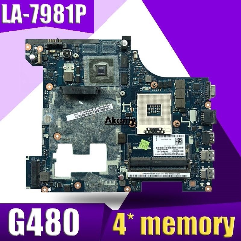 LA-7981P G480 Motherboard For Lenovo G480 QIWG5_G6_G9 LA-7981P REV:1.0 GT610M Laptop Motherboard Test Mainboard