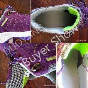 Image 4 - Женские кроссовки на платформе, со шнуровкой, на весну и осень, удобная спортивная обувь, увеличивающая рост