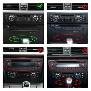 Image 5 - עבור BMW 3 סדרת E90 E92 E93 2005   2008 2009 2010 2011 2012 סיבי פחמן 2pcs רכב פנים מרכז בקרת CD פנל מסגרת כיסוי