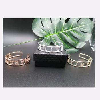 Dostosowane bransoletka kobiety biżuteria niestandardowe bransoletki bransoletki dostosowane bransoletki nazwa bransoletki dla kobiet spersonalizowany prezent tanie i dobre opinie CN (pochodzenie) NAME Miedziane moda