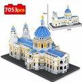 Модель собора Святого Павла 7053 шт., 3D Строительные блоки, Лондонский город, церковь, миниатюрные блоки, конструктор «сделай сам», игрушки в п...