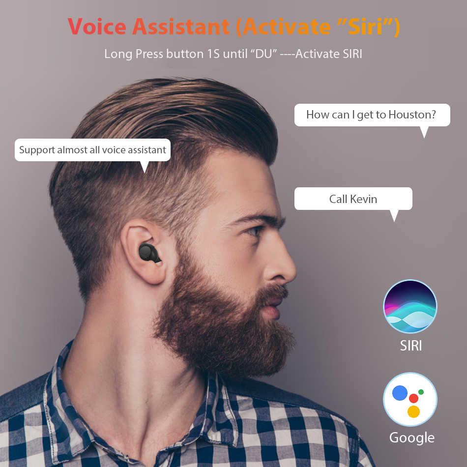 Мини V5.0 Bluetooth наушники 3D стерео беспроводные наушники спортивные беспроводные наушники игровая гарнитура с двумя микрофонами