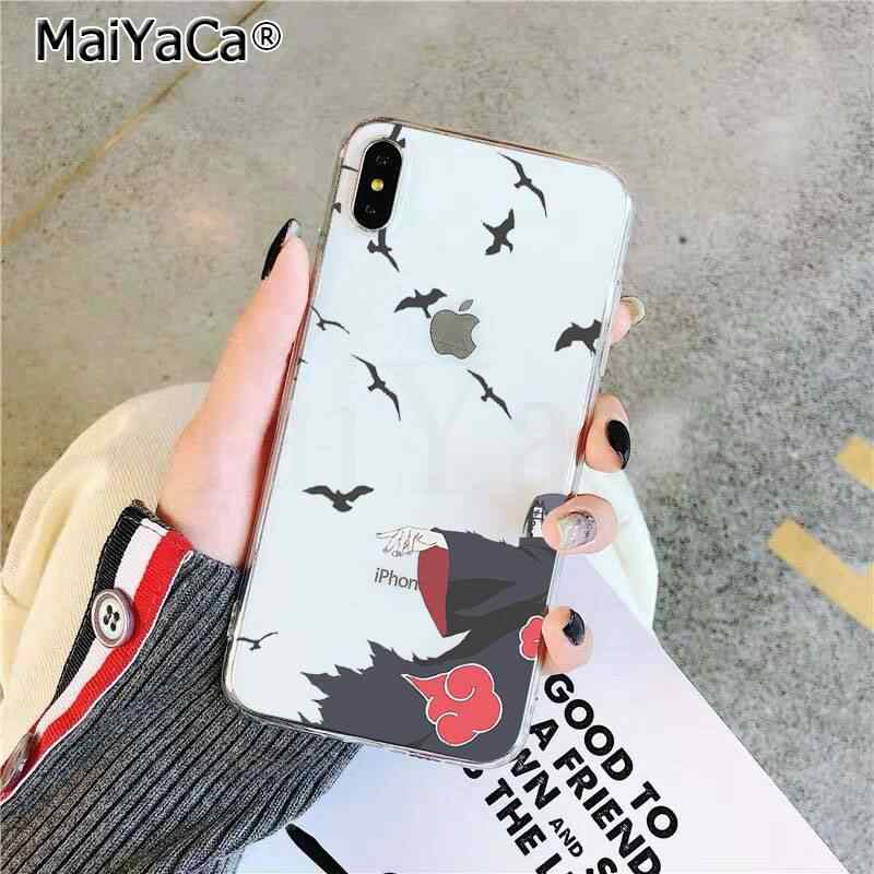 Maiyaca anime naruto itachi telefone capa para iphone se 2020 11 pro xs max 8 7 6 s plus x 5 5S se xr capa