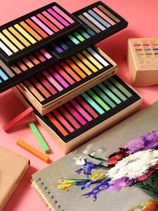 Painting Crayons Stationery Brush Drawing-Set Art Chalk-Color Soft for Students 12/24/36/48-colors