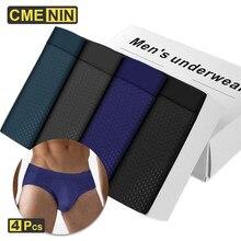 CMENIN 4 pçs / lote Malha respirável Cuecas masculinas Bodysuit Masculino Confortável Cuecas sólidas Cuecas masculinas 2021