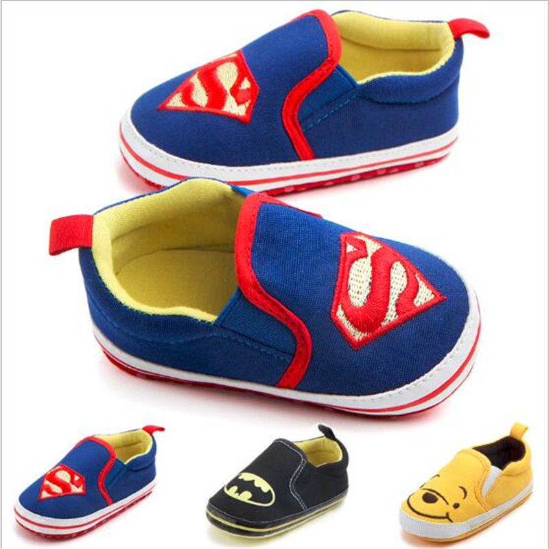 Cartoon Baby Shoes Lovely Toddlers Baby Canvas Shoes Infants Soft Bottom First Walkers Anti-slip Baby Shoes