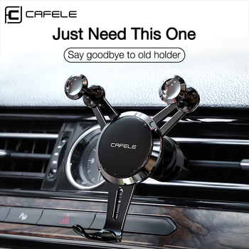 Cafele Car Phone Holder For Phone in Car Air Vent Clip Mount No Magnetic Mobile Phone Holder GPS Stand For iPhone 11 pro Xiaomi image