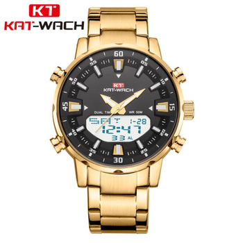 Watch Men KAT-WACH Top Brand Luxury Military Army Sports Casual Waterproof Mens Watches Quartz Stainless Steel Wristwatch image