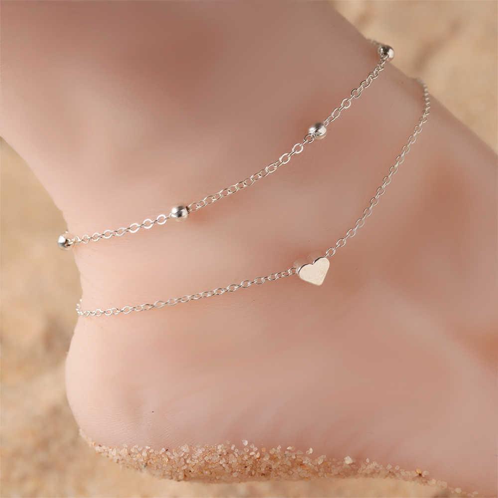 ข้อเท้าสับปะรดจี้ลูกปัดฤดูร้อนชายหาดเครื่องประดับสไตล์แฟชั่น Anklet หญิง