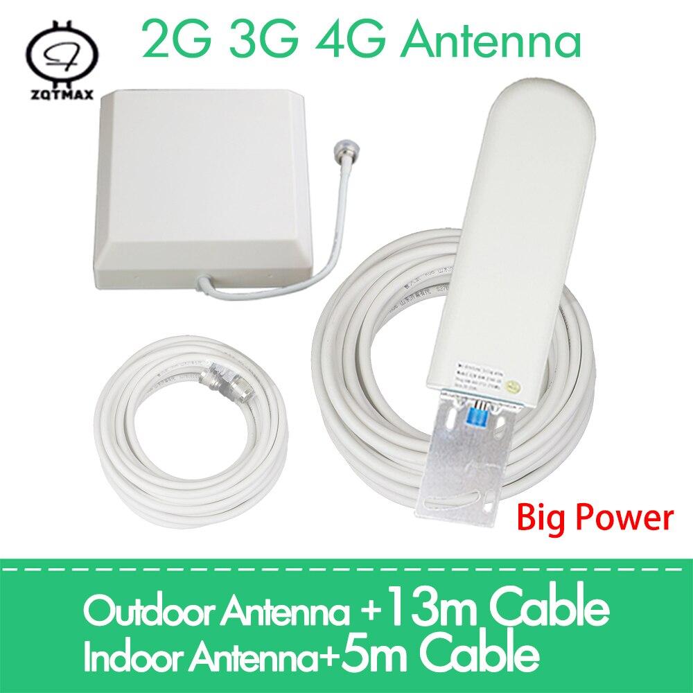 ZQTMAX 2g 3g 4g Antenna 25dBi For GSM CDMA DCS Pcs 4G LTE UMTS 850 900 1800 1900 2100 2600 2700 Cellular Signal Amplifier